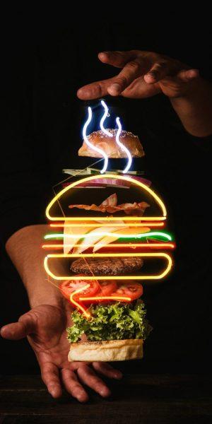 burger, patties, vegetables